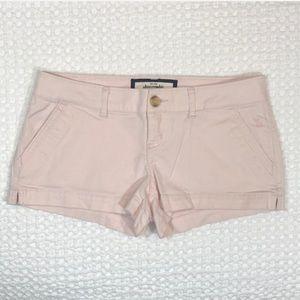 "Abercrombie Low Rise Blush 2"" Shorts"
